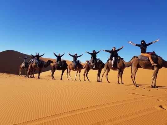 camel ride Merzouga